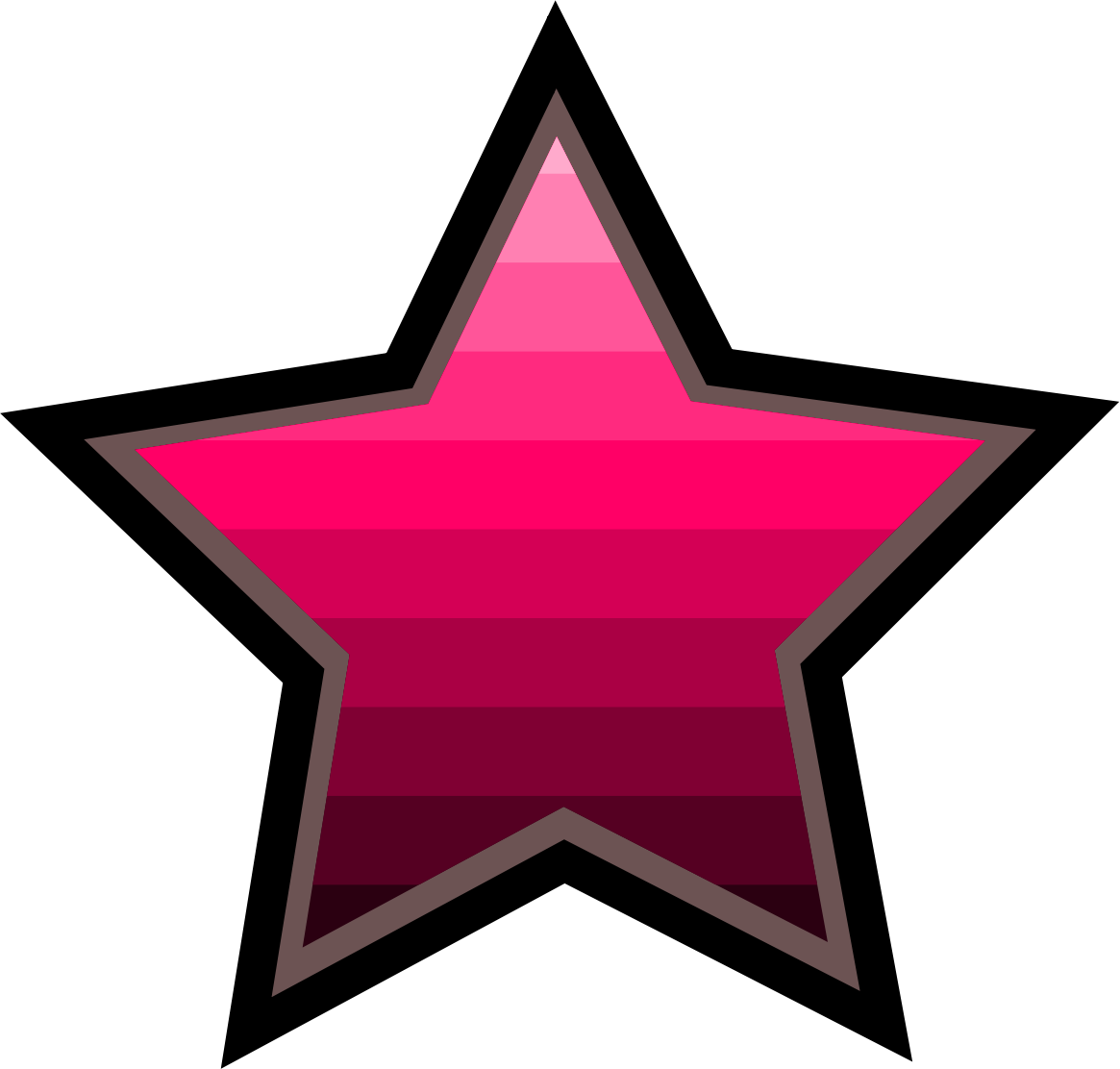 Pink five point star clipart graphic library stock Clipart - ombre star graphic library stock