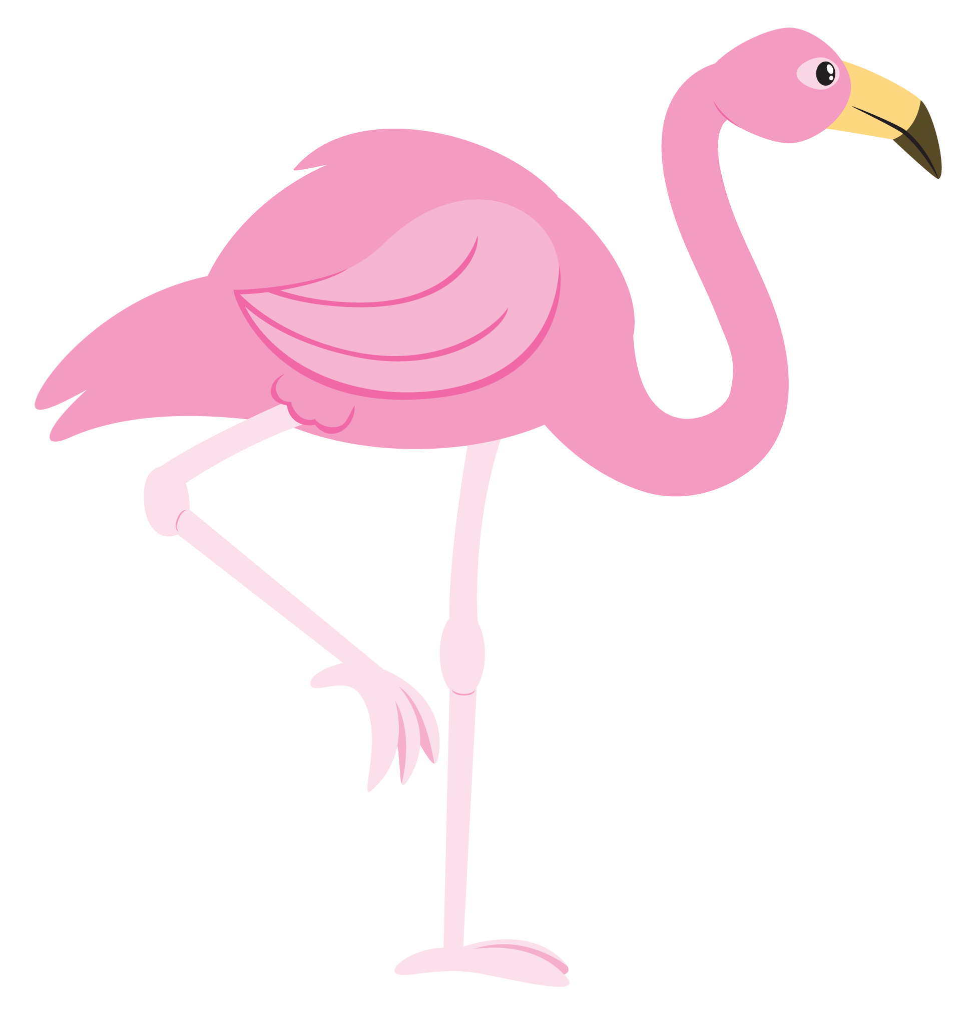 Pink flamingo clipart free clip library library Pink Flamingo Cartoon Clipart - Clipart Kid | stuff ... clip library library