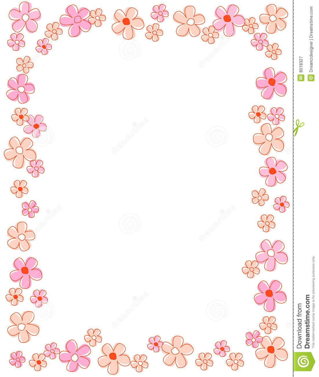 Pink floral frame clipart jpg black and white download Pin by Alanoud on Frames 〰   Page borders design, Flower ... jpg black and white download