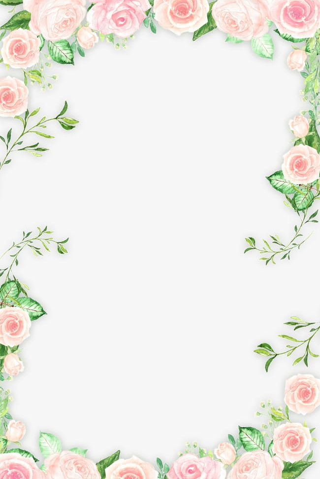 Pink floral frame clipart clip free stock Romantic Pink Flower Border PNG, Clipart, Border, Border ... clip free stock