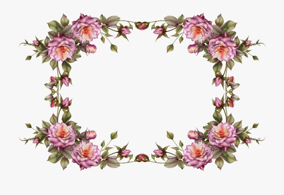 Pink floral frame clipart svg transparent library Flower Frame Clipart - Transparent Background Flower Frame ... svg transparent library