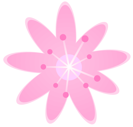 Pink flower clipart png jpg black and white stock Pink Flower Clipart - Clipart Kid jpg black and white stock