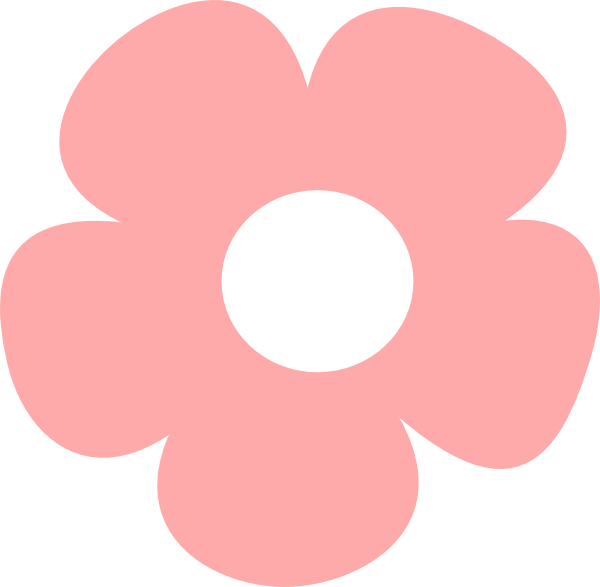 Pink flower clipart png graphic black and white library Simple Pink Flower Clip Art at Clker.com - vector clip art online ... graphic black and white library