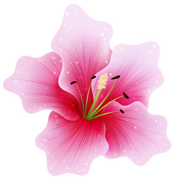 Pink flower clipart png clip art library download Pink Flower PNG by HanaBell1.deviantart.com on @deviantART | Idea ... clip art library download