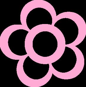 Pink flower clipart png png free download Pink Flower Outline Clip Art at Clker.com - vector clip art online ... png free download