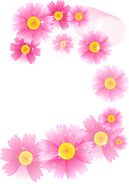 Pink flower clipart png png stock Pink_Flowers_Full_Transparent_Clipart.png?m=1367618400 png stock