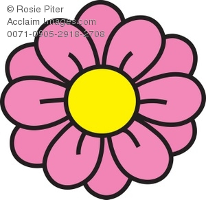 Pink flowers clip art banner freeuse Clipart Illustration of a Pink Flower banner freeuse