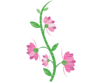 Pink flowers clip art transparent library Pink Flower Border Clip Art | Clipart Panda - Free Clipart Images transparent library
