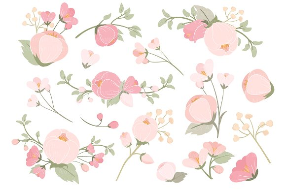 Pink flowers clipart clip art stock Soft Pink Flower Clipart & Vectors clip art stock