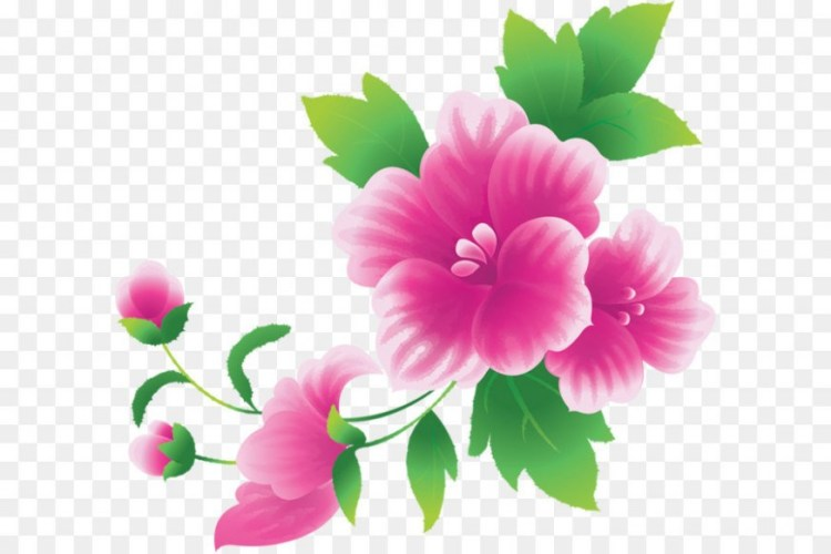 Pink flowers clipart graphic free stock Pink flowers Clip art – Large Pink Flowers Clipart png ... graphic free stock