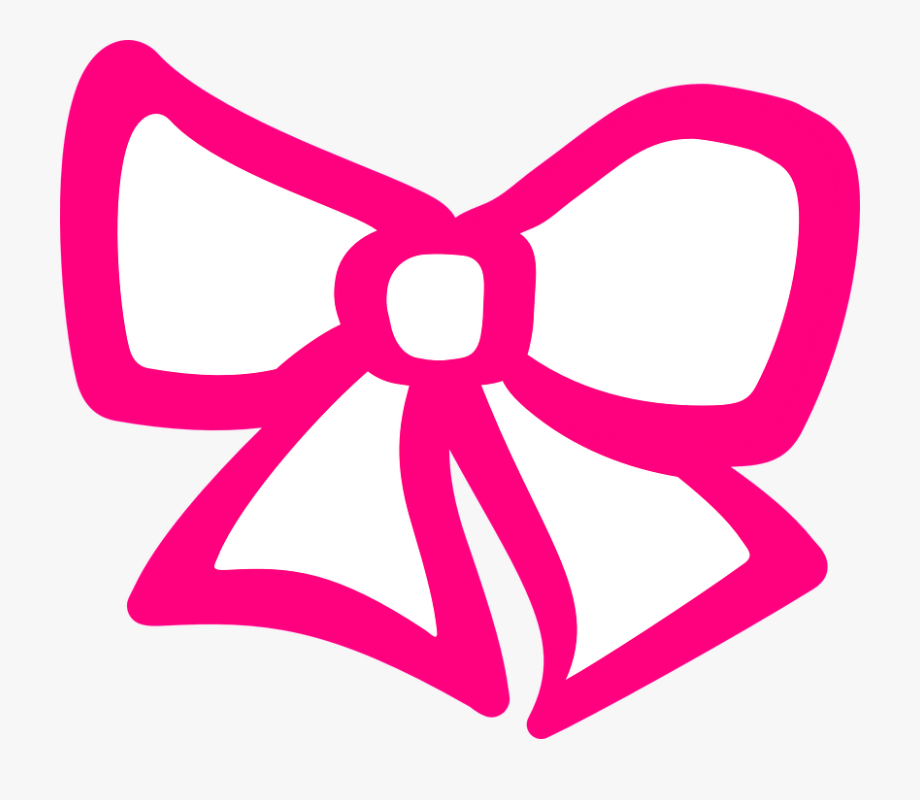 Pink hair clipart svg Pink Hair Clipart Ribbon - Hair Bow Clip Art #138583 - Free ... svg