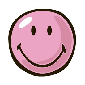 Pink happy face clipart vector freeuse stock Round Pink Smiley Face Rug by | Clipart Panda - Free Clipart ... vector freeuse stock