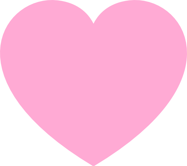 Pink heart clipart vector transparent Pink Heart Clip Art at Clker.com - vector clip art online, royalty ... vector transparent
