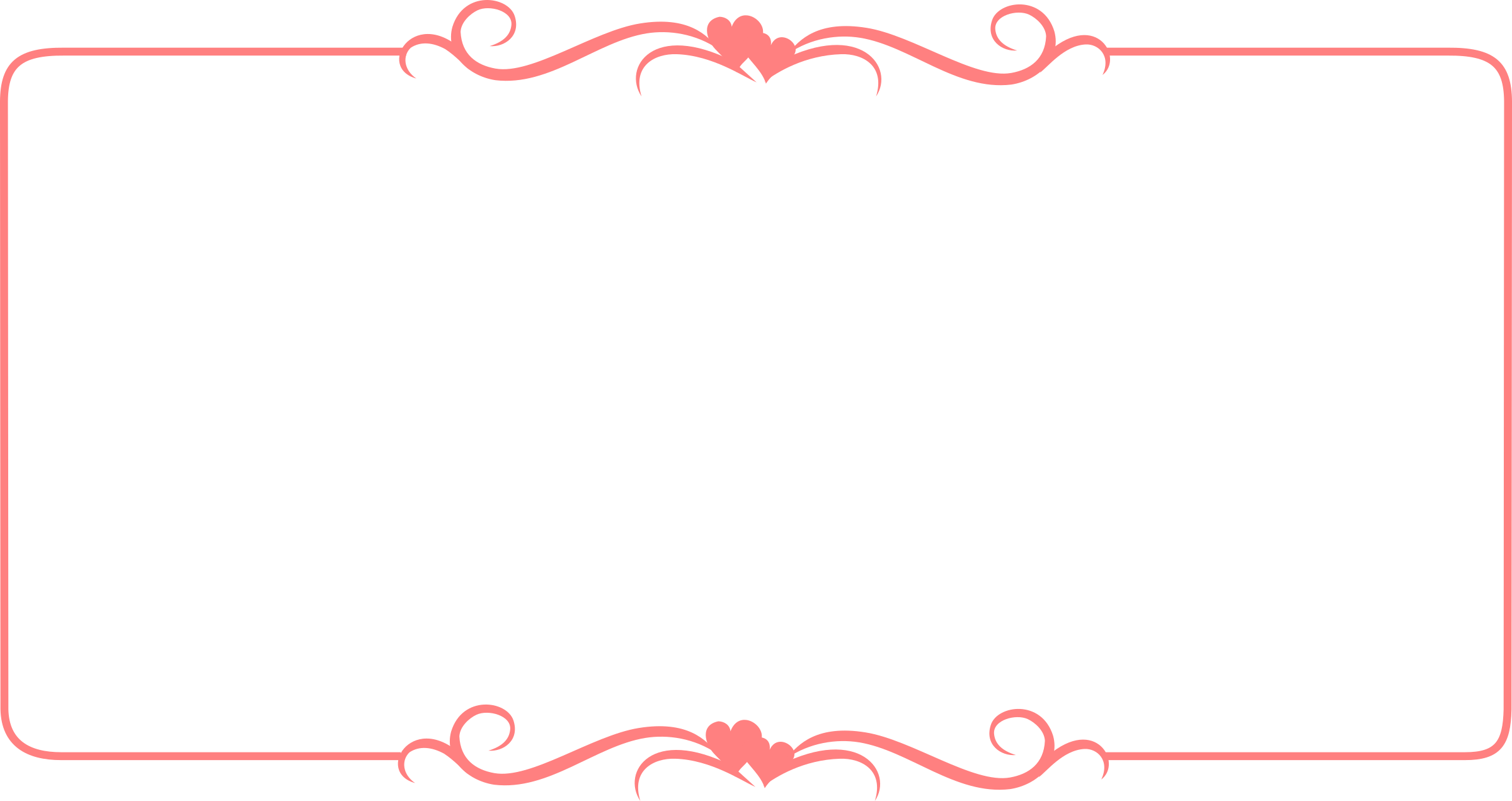 Pink heart clipart border graphic freeuse Clipart - Hearts Border Template graphic freeuse