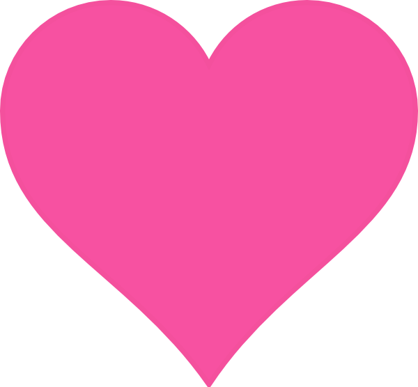 Pink heart clipart png picture royalty free stock Pink Heart Clip Art at Clker.com - vector clip art online, royalty ... picture royalty free stock