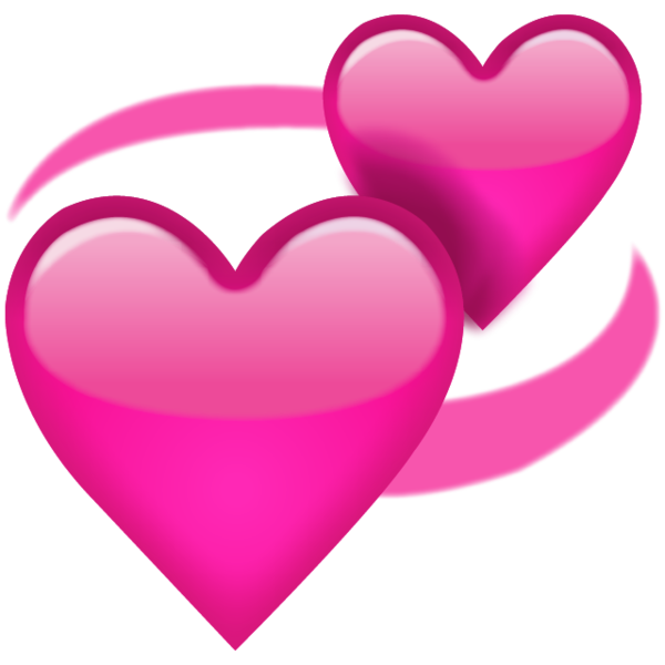 Pink heart clipart png picture library download Download Revolving Pink Hearts Emoji Icon | Emoji Island picture library download