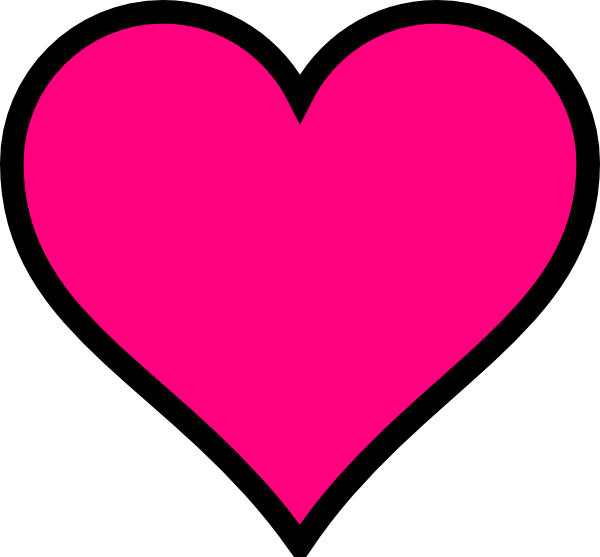 Pink heart outline clipart clip art library library Pink Heart Clip Art at Clker.com - vector clip art online, royalty ... clip art library library