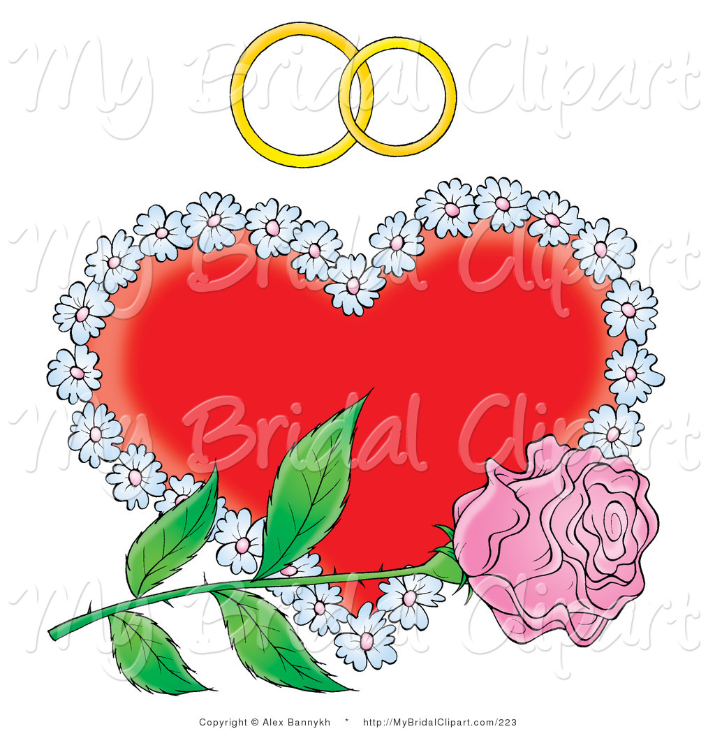 Pink hearts and flowers clipart clip stock Royalty Free Stock Bridal Designs of Flowers clip stock