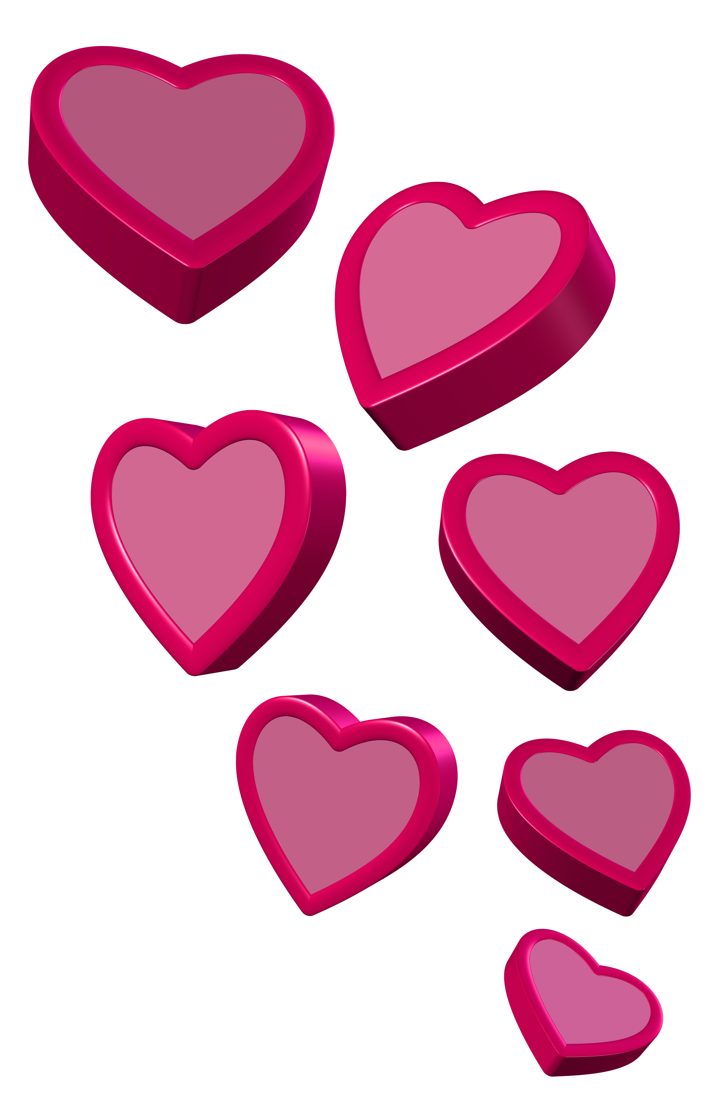 Pink heart clipart svg stock Pink Hearts PNG Clipart Picture svg stock