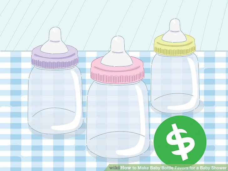 Pink jelly beans in baby bottle clipart picture transparent stock 3 Ways to Make Baby Bottle Favors for a Baby Shower - wikiHow picture transparent stock
