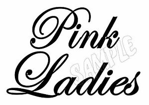Pink ladies grease black and white clipart graphic royalty free library Details about PINK LADIES - GREASE MOVIE - IRON ON TRANSFER or STICKER  DRESS UP COSTUME graphic royalty free library