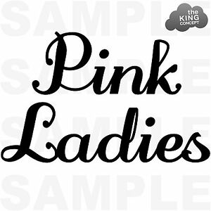 Pink ladies grease black and white clipart svg transparent download Details about Pink Ladies Iron On T-Shirt Transfer Grease Movie Jacket  Sandy Hen Night t Birds svg transparent download