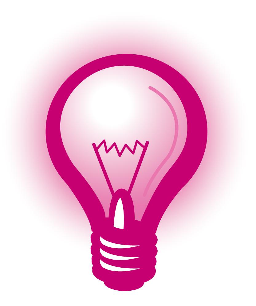 Pink light bulb clipart banner Pink Christmas Light Bulb Clipart - Free Clipart banner