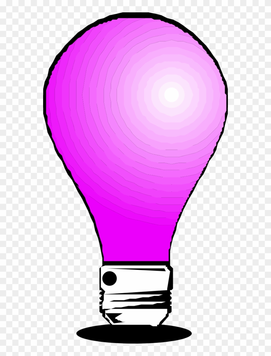 Pink light bulb clipart black and white download Vector Clip Art - Pink Light Bulb Clip - Png Download ... black and white download