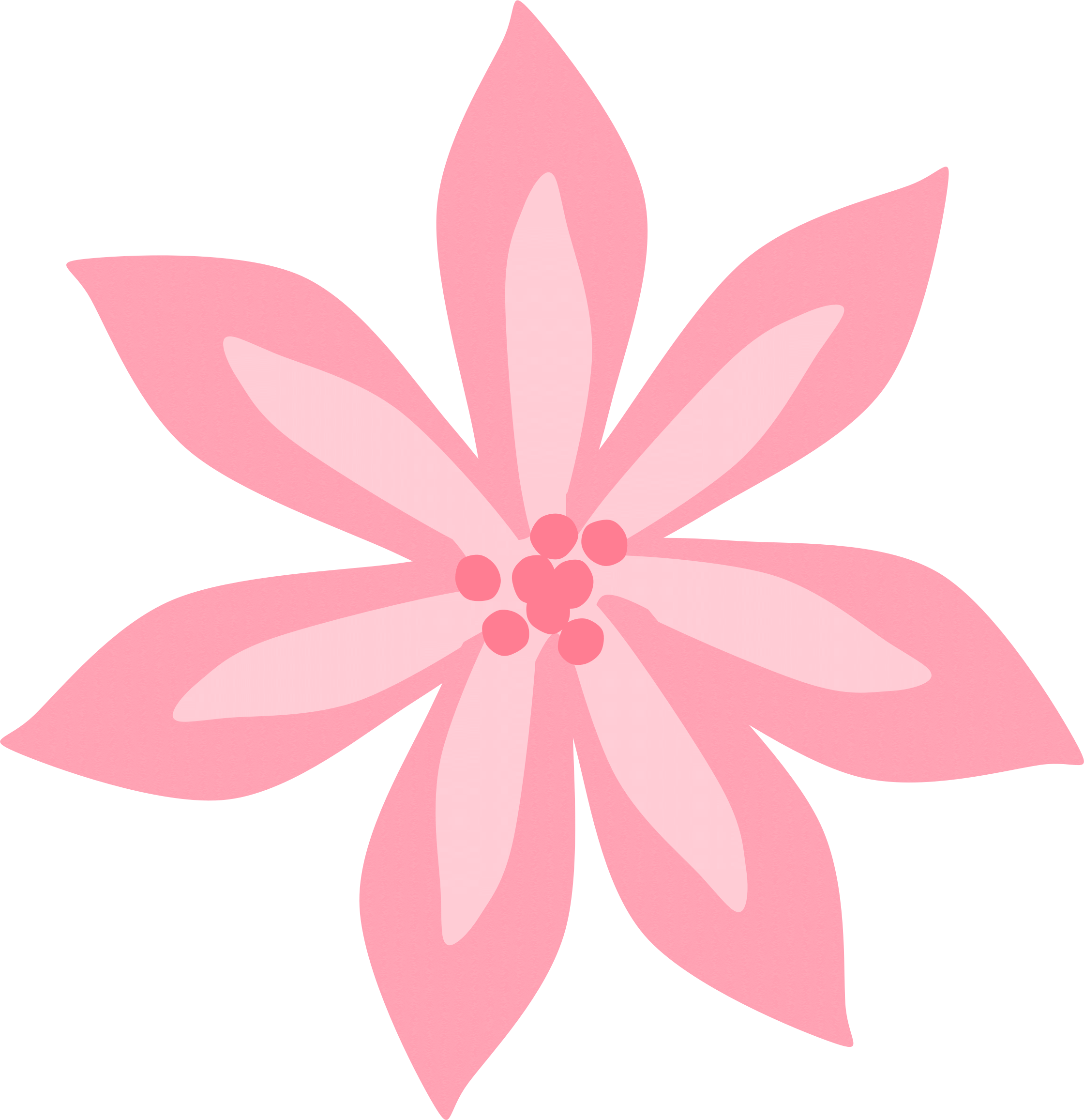 Pink lily clipart svg transparent stock Pink Lily Cliparts - Cliparts Zone svg transparent stock