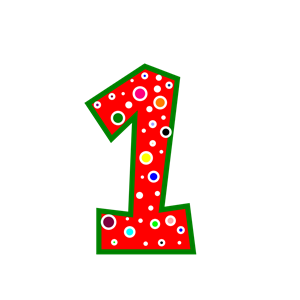Pink number 1 clipart banner free Pink polka dot number 1 clipart - ClipartFest banner free