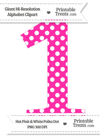 Pink number 1 clipart vector black and white Pink Number 1 Clipart - Clipart Kid vector black and white