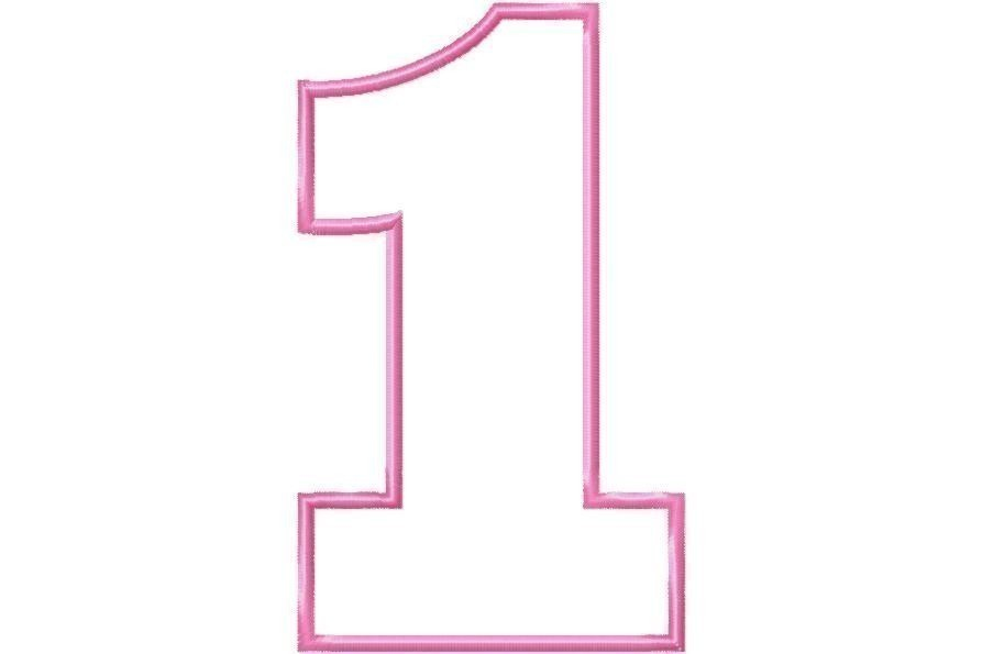 Pink number 1 clipart picture transparent Birthday number 1 clipart - ClipartFest picture transparent