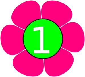 Pink number 1 clipart clip art royalty free download 1 Pink Green Flower Clip Art at Clker.com - vector clip art online ... clip art royalty free download