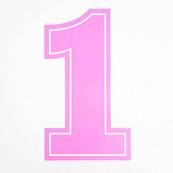 Pink number 1 clipart vector freeuse stock Pink number 1 clipart - ClipartFest vector freeuse stock