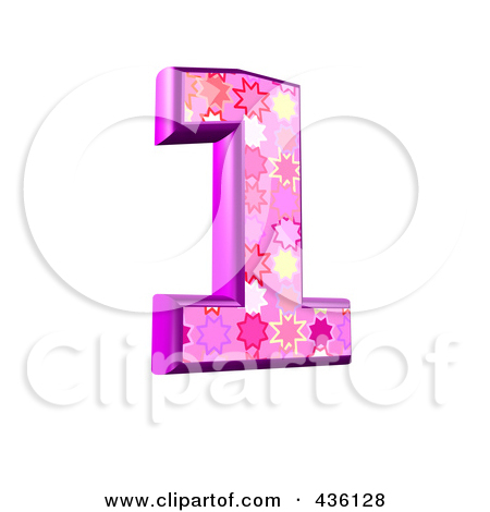Pink number 1 clipart banner freeuse library Royalty-Free (RF) Pink Burst Number Clipart, Illustrations, Vector ... banner freeuse library