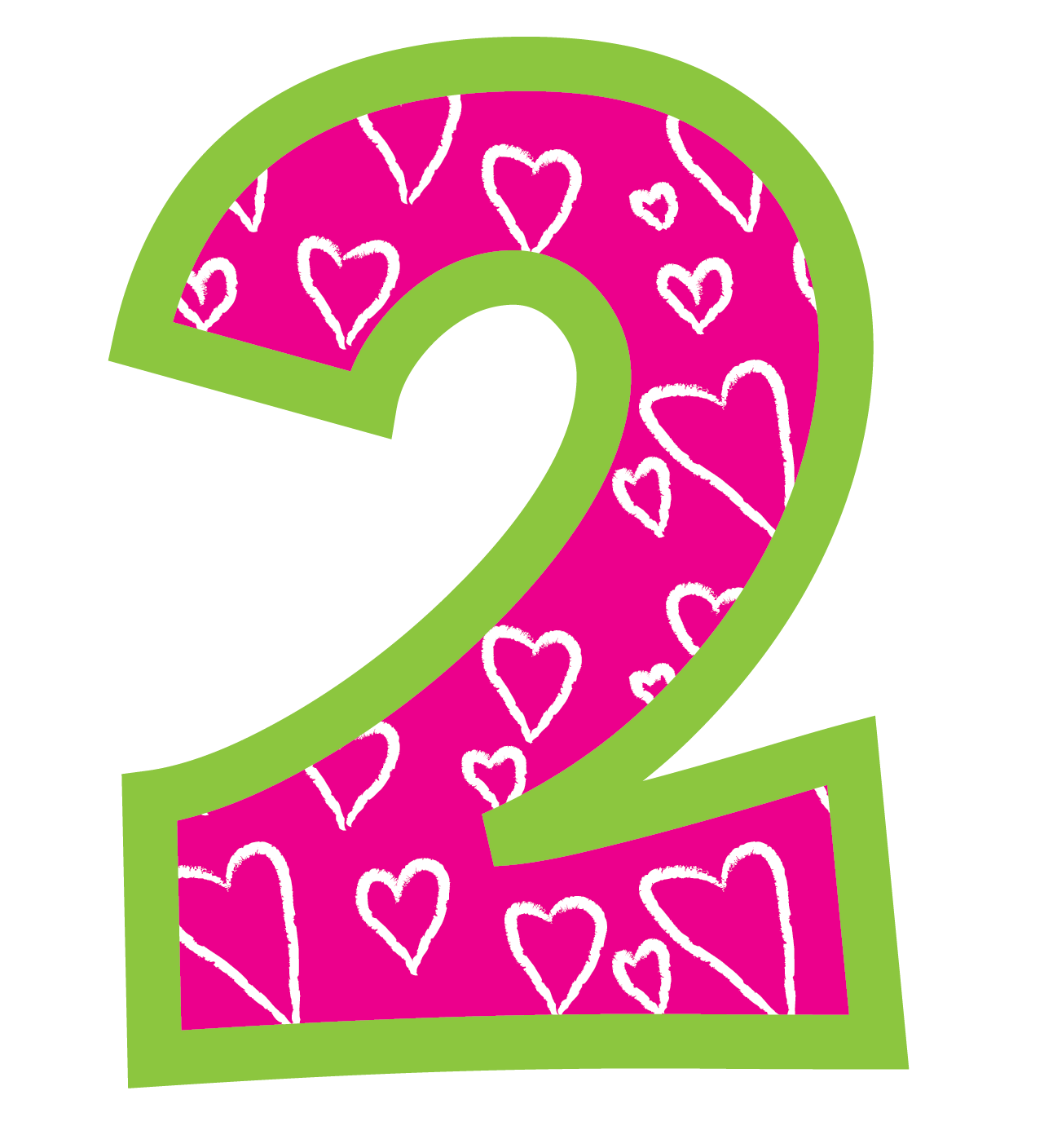 Pink number 2 birthday clipart clipart download Birthday Cliparts Number 2 - Cliparts Zone clipart download