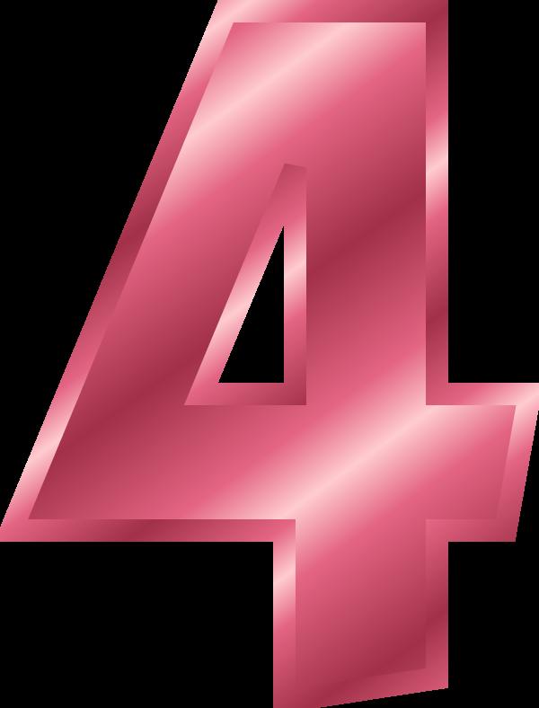 Pink number 4 clipart clip art transparent stock HD Large - Number 4 Color Pink Transparent PNG Image ... clip art transparent stock