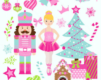 Pink nutcracker clipart banner black and white download Free Ballerina Christmas Cliparts, Download Free Clip Art ... banner black and white download