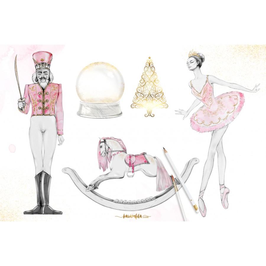 Pink nutcracker clipart clip art royalty free stock Nutcracker Christmas Clipart clip art royalty free stock