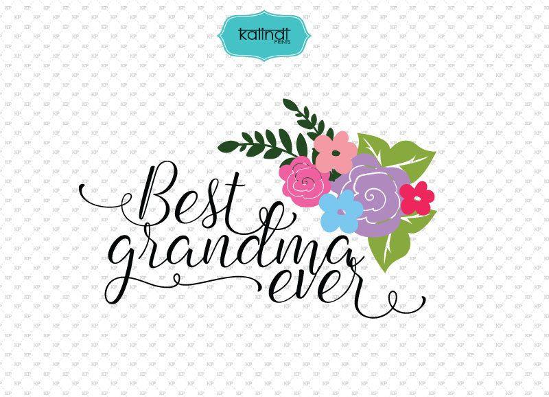 Pink or blue grandma loves you design clipart svg black and white stock Best Grandma ever SVG file, grandma quotes clipart, quotes ... svg black and white stock