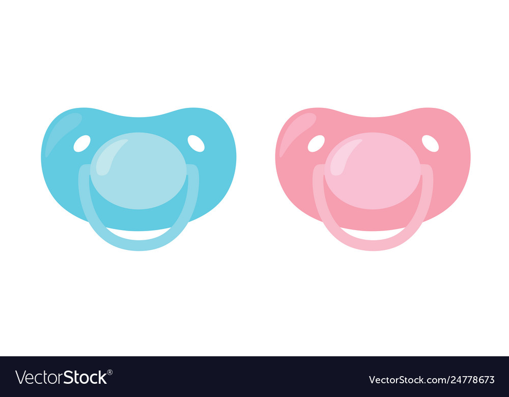 Pink pacifier clipart clipart royalty free download Child pacifier banipple set blue and pink clipart royalty free download
