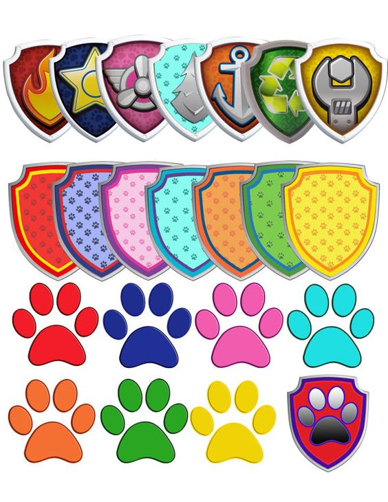 Pink paw patrol logo clipart png freeuse Instant Download Paw Patrol clipart. In this set added 7 logos and ... png freeuse