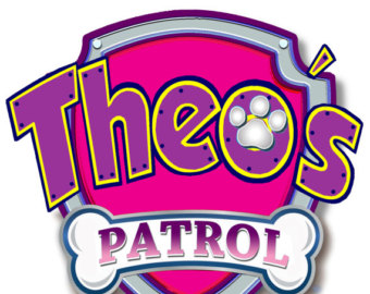 Pink paw patrol logo clipart free Paw Patrol Personalized logo Version 2 DIGITAL FILE by MimicNEcho free