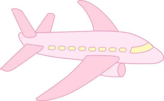 Pink plane clipart vector free library Pink plane clipart - ClipartFest vector free library