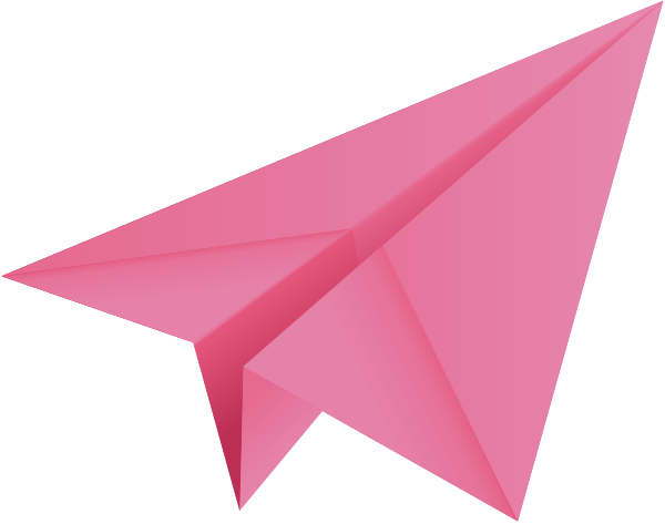 Pink plane clipart png black and white Pink paper plane, paper | Clipart Panda - Free Clipart Images png black and white