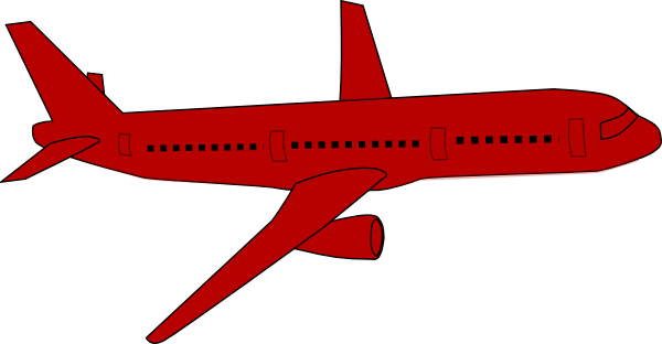 Pink plane clipart clip library download Red plane clipart - ClipartFest clip library download