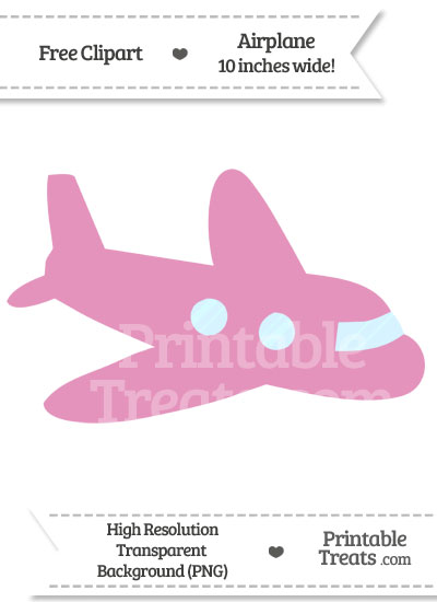 Pink plane clipart clip black and white download Pastel Bubblegum Pink Airplane Clipart — Printable Treats.com clip black and white download