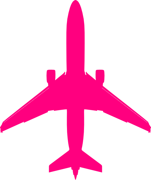 Pink plane clipart svg library library Pink Plane Clip Art at Clker.com - vector clip art online, royalty ... svg library library