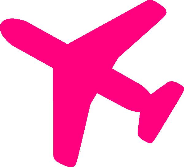 Pink plane clipart picture transparent Pink Airplane Clip Art at Clker.com - vector clip art online ... picture transparent