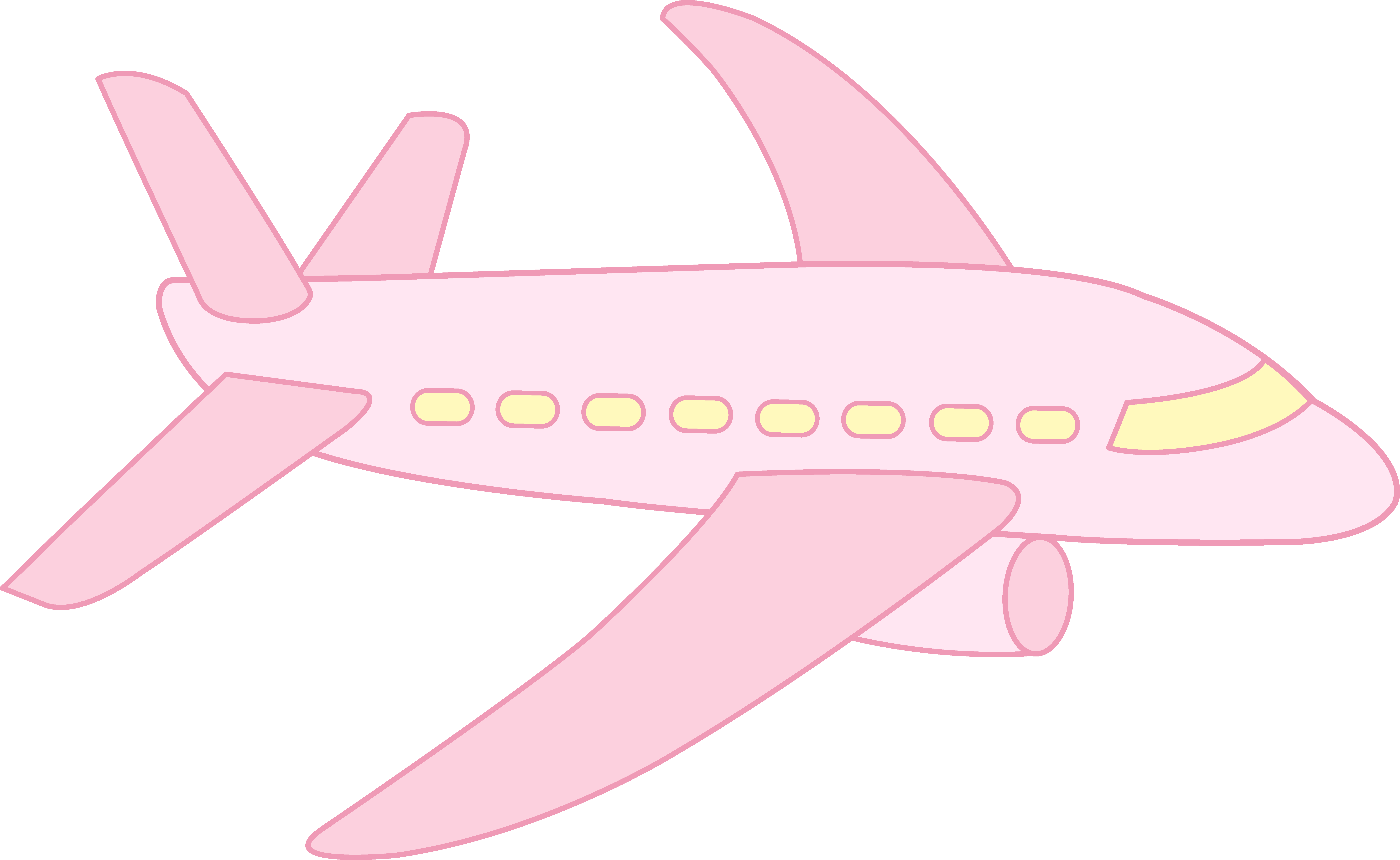 Pink plane clipart clip art free Cute Pink Airplane - Free Clip Art clip art free